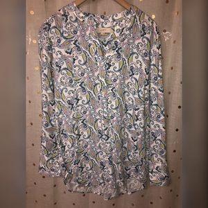 LOFT long sleeve tunic paisley print Medium